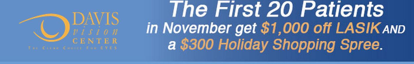 Utah Readers: $1,000 off LASIK! Plus, a FREE $300 VISA Gift Card ...