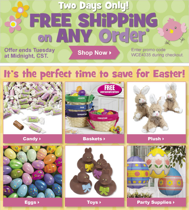 Free Shipping Today: FREE Shipping At Oriental Trading! Shop Now For Easter