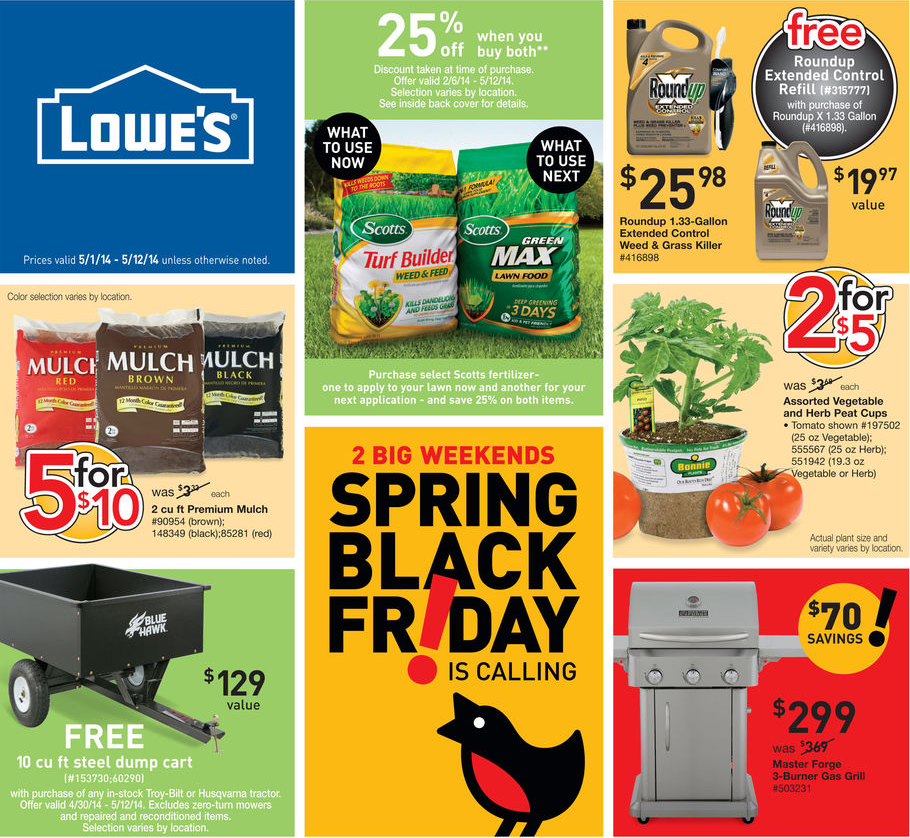 Lowe's Black Friday deals, Last year, the home improvement store opened at 6 a.m. on Black Friday with Christmas decoration and power tool doorbuster deals. Lowe's was closed on Thanksgiving.