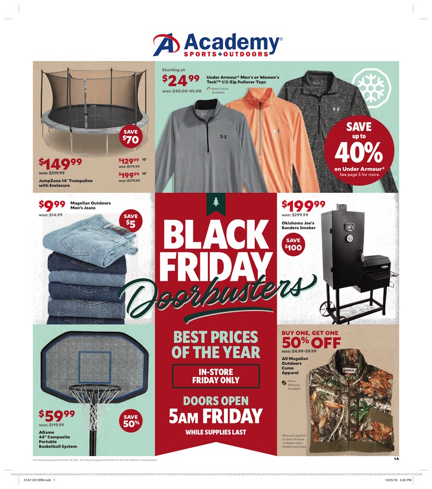 Academy Sports Black Friday Ad 2018 - Page 1