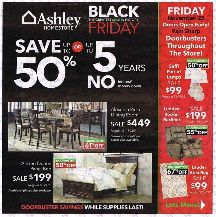 Ashley HomeStore Black Friday 2016 Ad