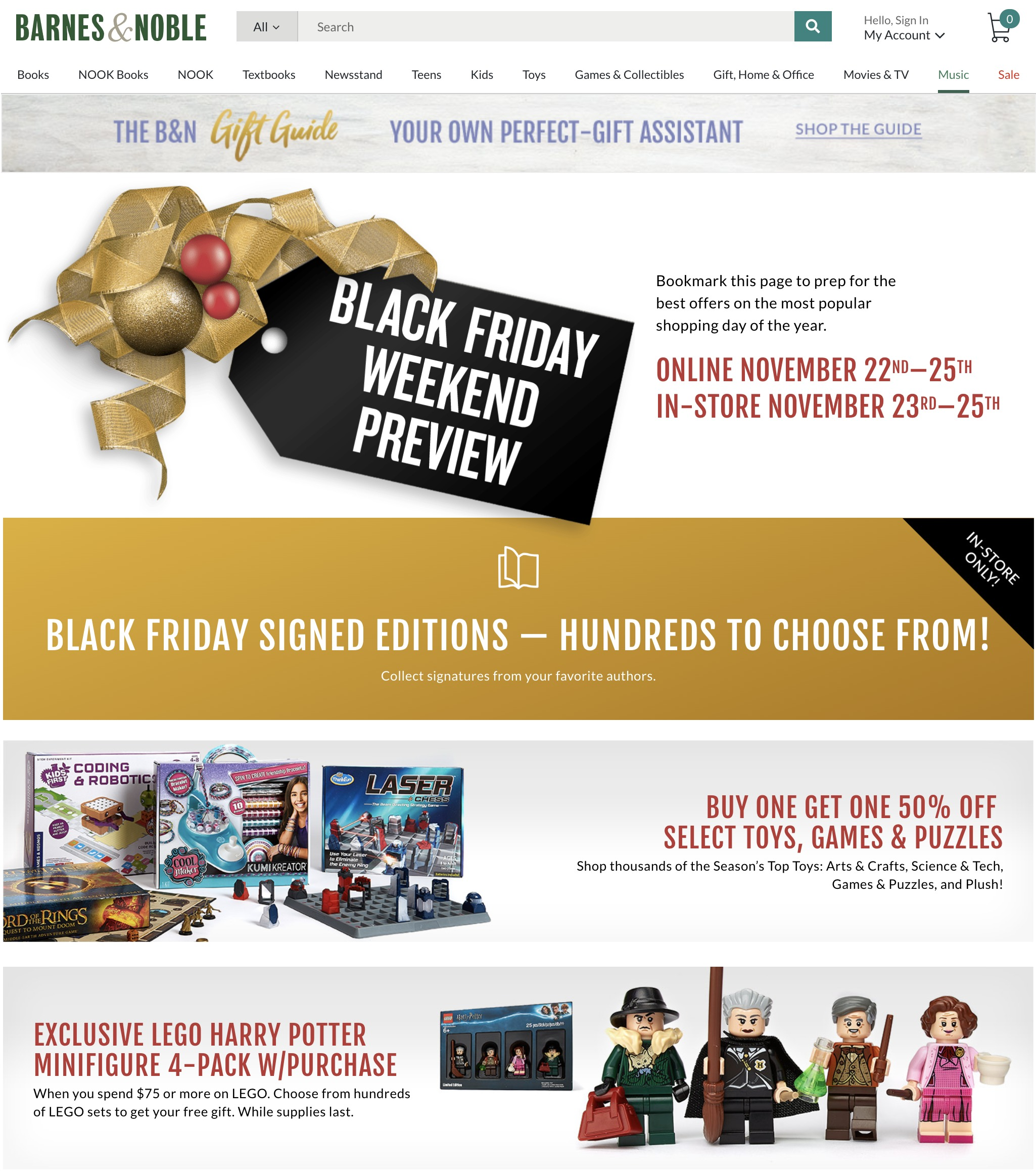 Barnes & Noble Black Friday Ad 2018 - Page 1
