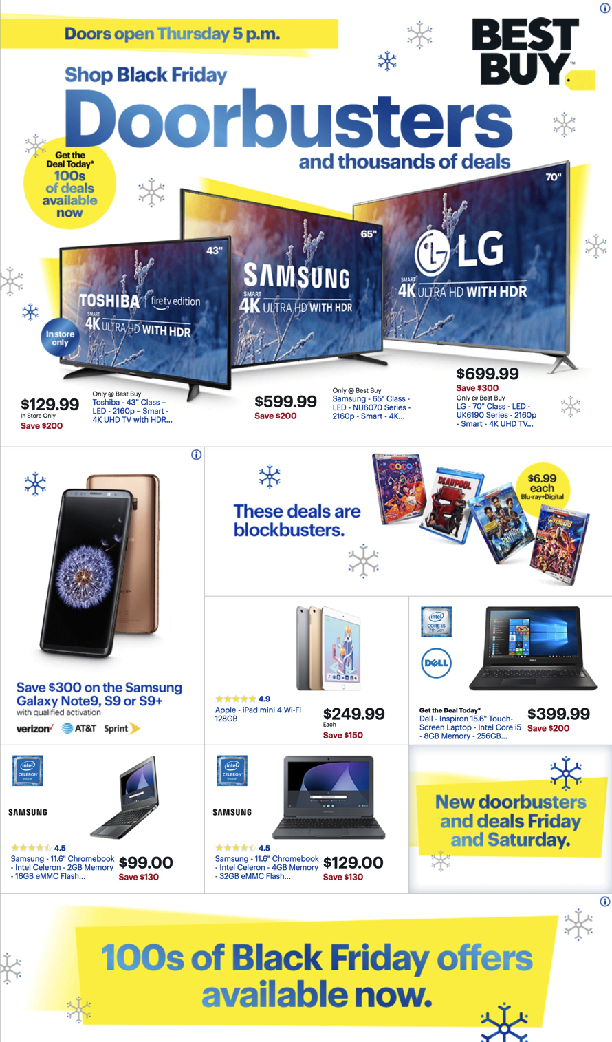 Best Buy Black Friday Ad 2018 - Page  (1)