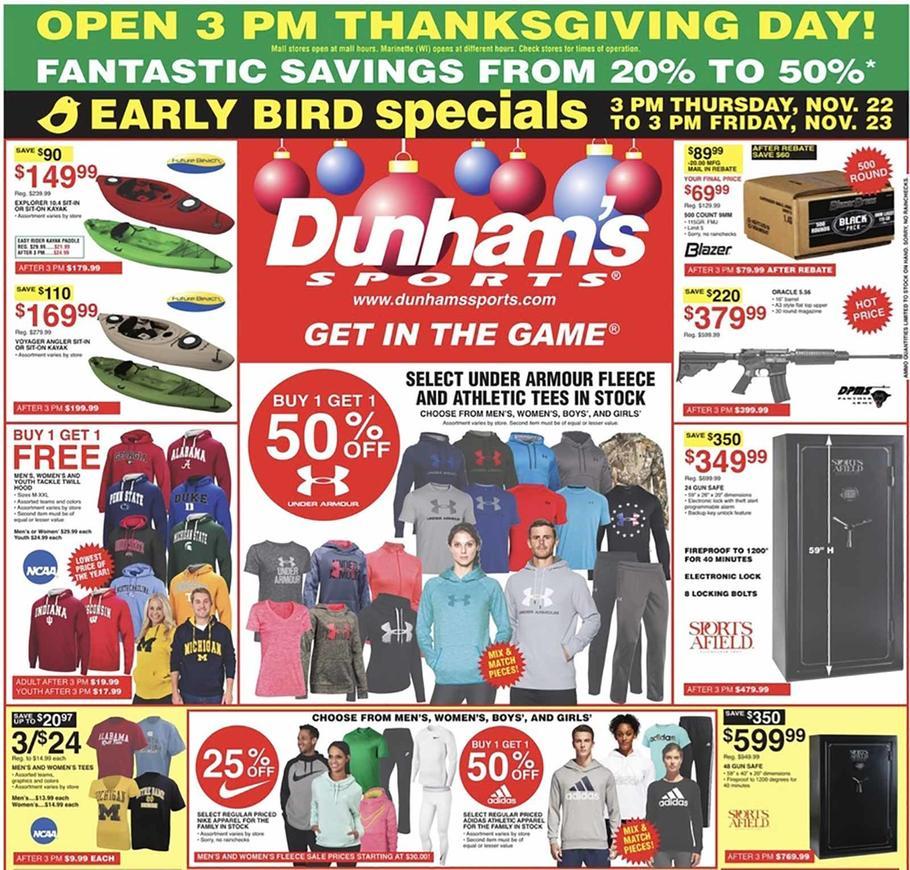 Dunhams Sports Black Friday Ad 2018 - Page 1