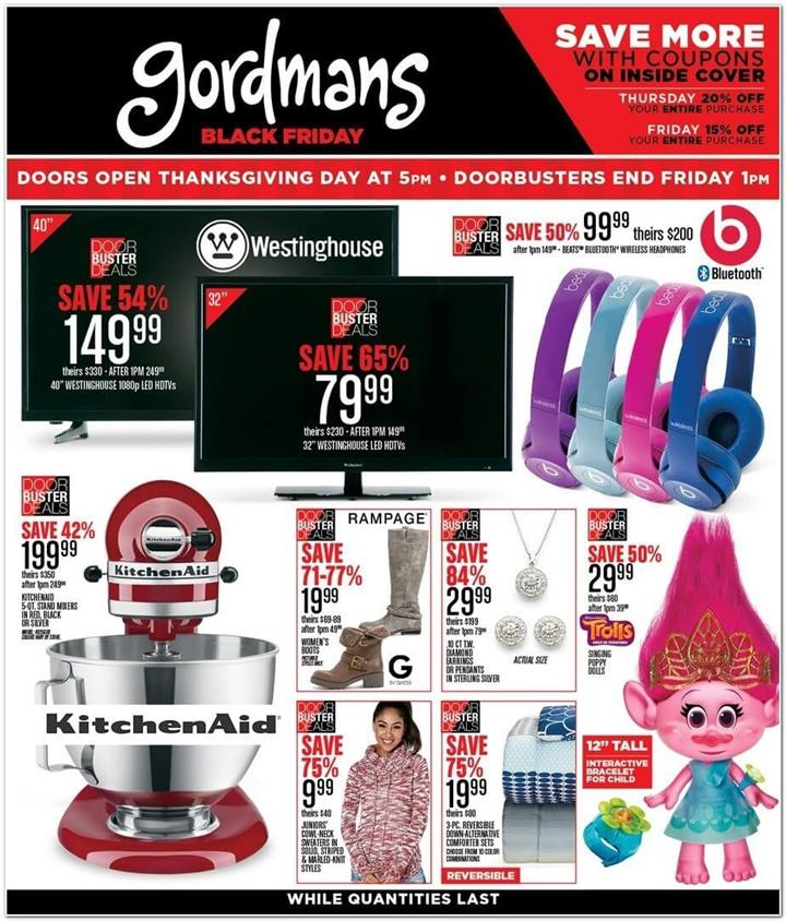 Gordmans Black Friday Ad 2016 - Pg 1