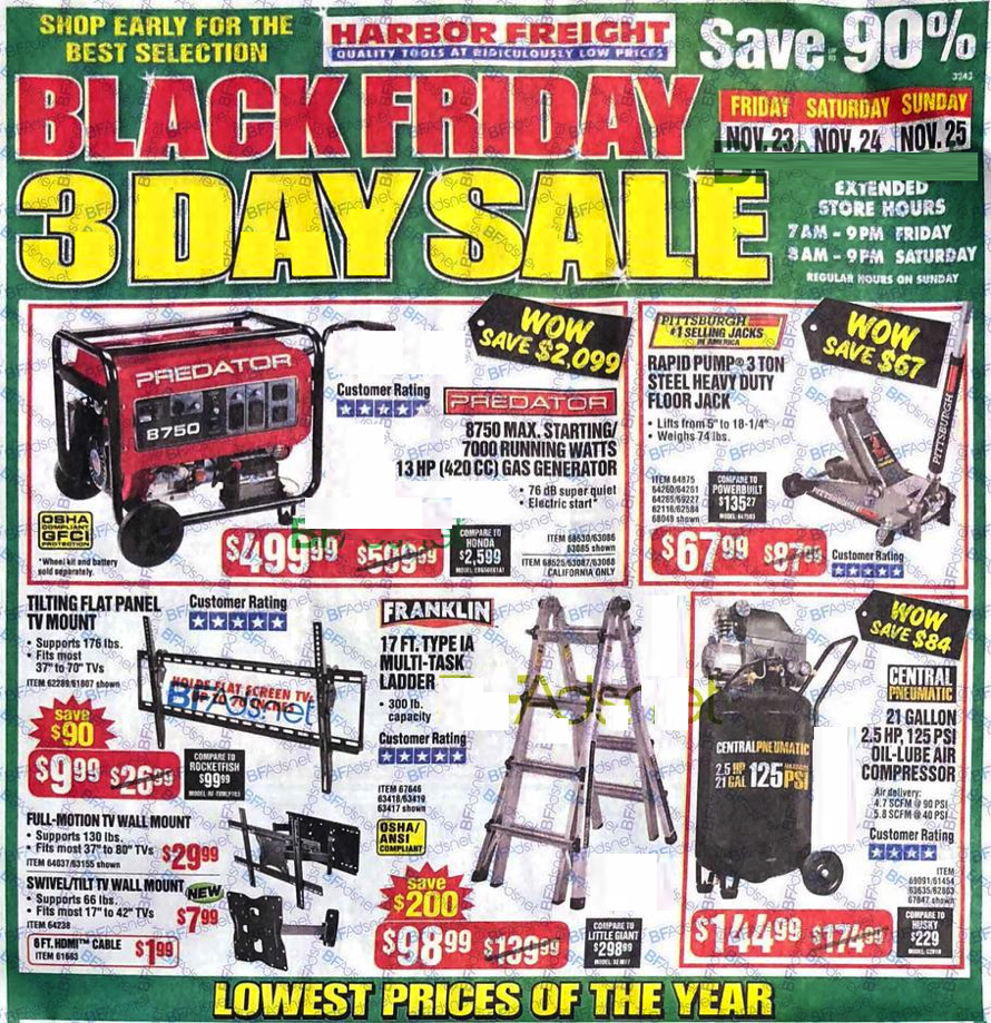 Harbor Freight Black Friday As 2018 - Page 1