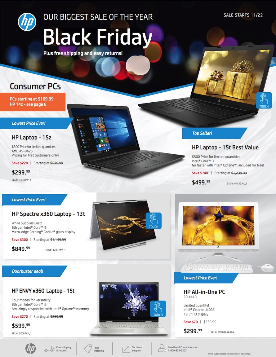 HP Black Friday Ad 2018 - Page  (1)