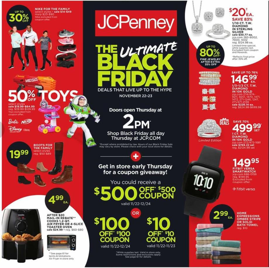 JCPenney Black Friday Ad 2018 - Page 1