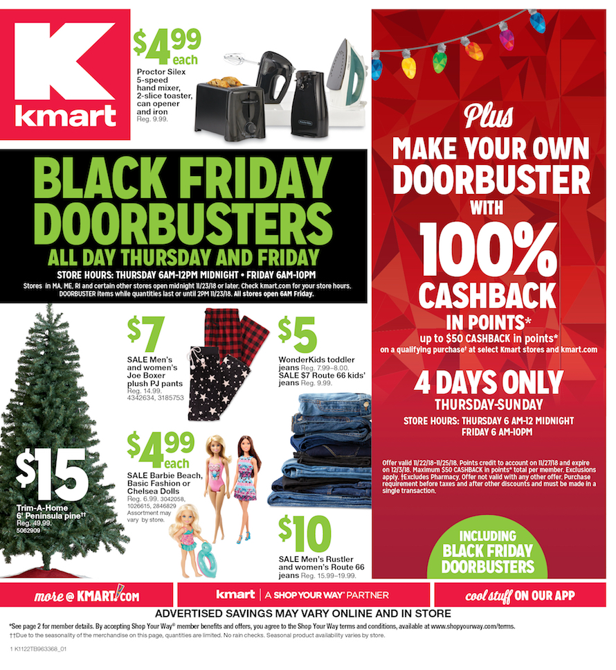 Kmart Black Friday Ad 2018 - Page  (1)