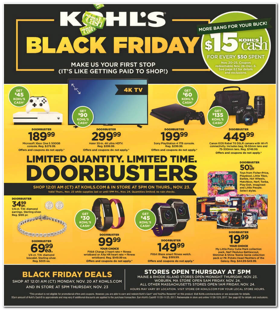 Kohls 2017 Black Friday Ad Page 1