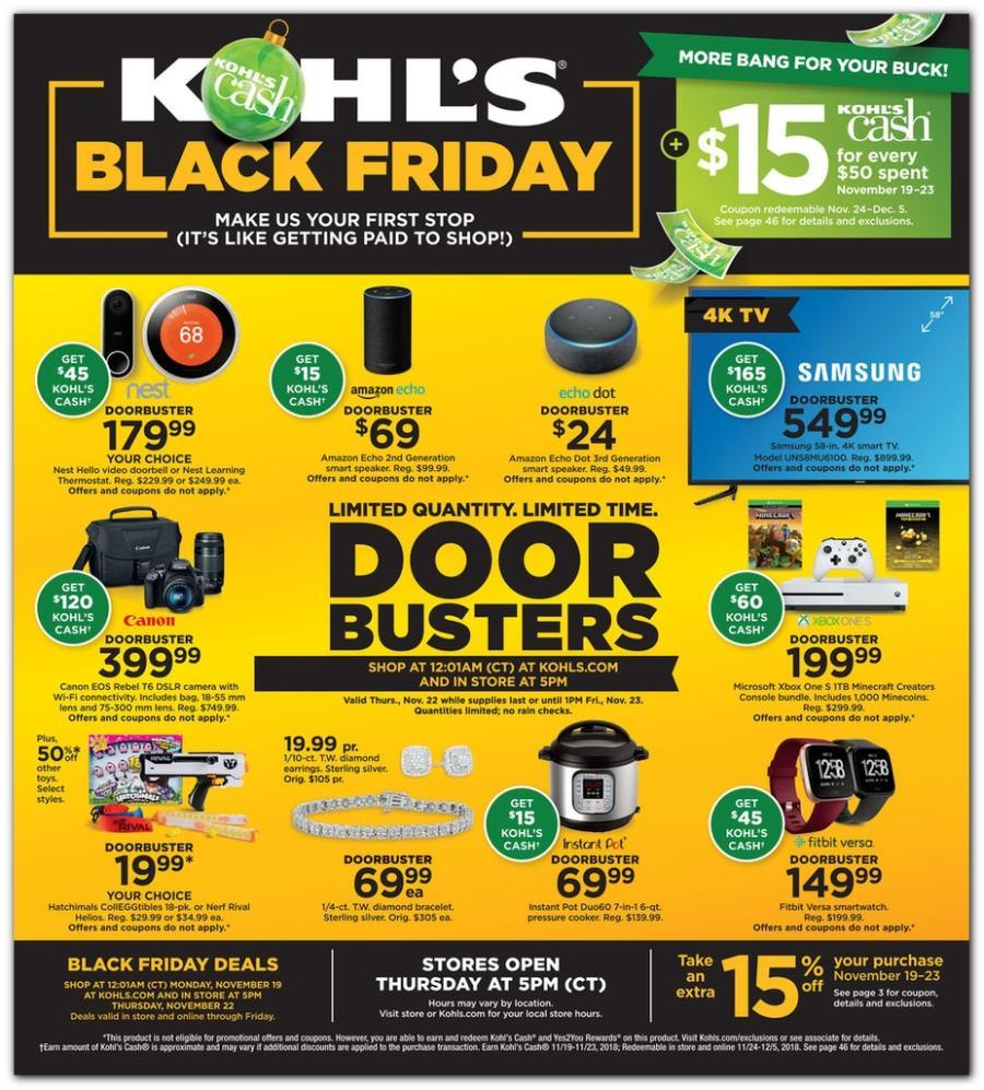 Kohls Black Friday Ad Scan - Page 1