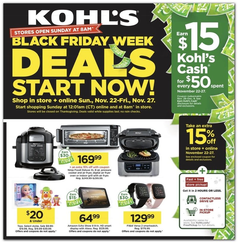 The Kohl's Black Friday Ad 2020 is HERE! - Freebies2Deals