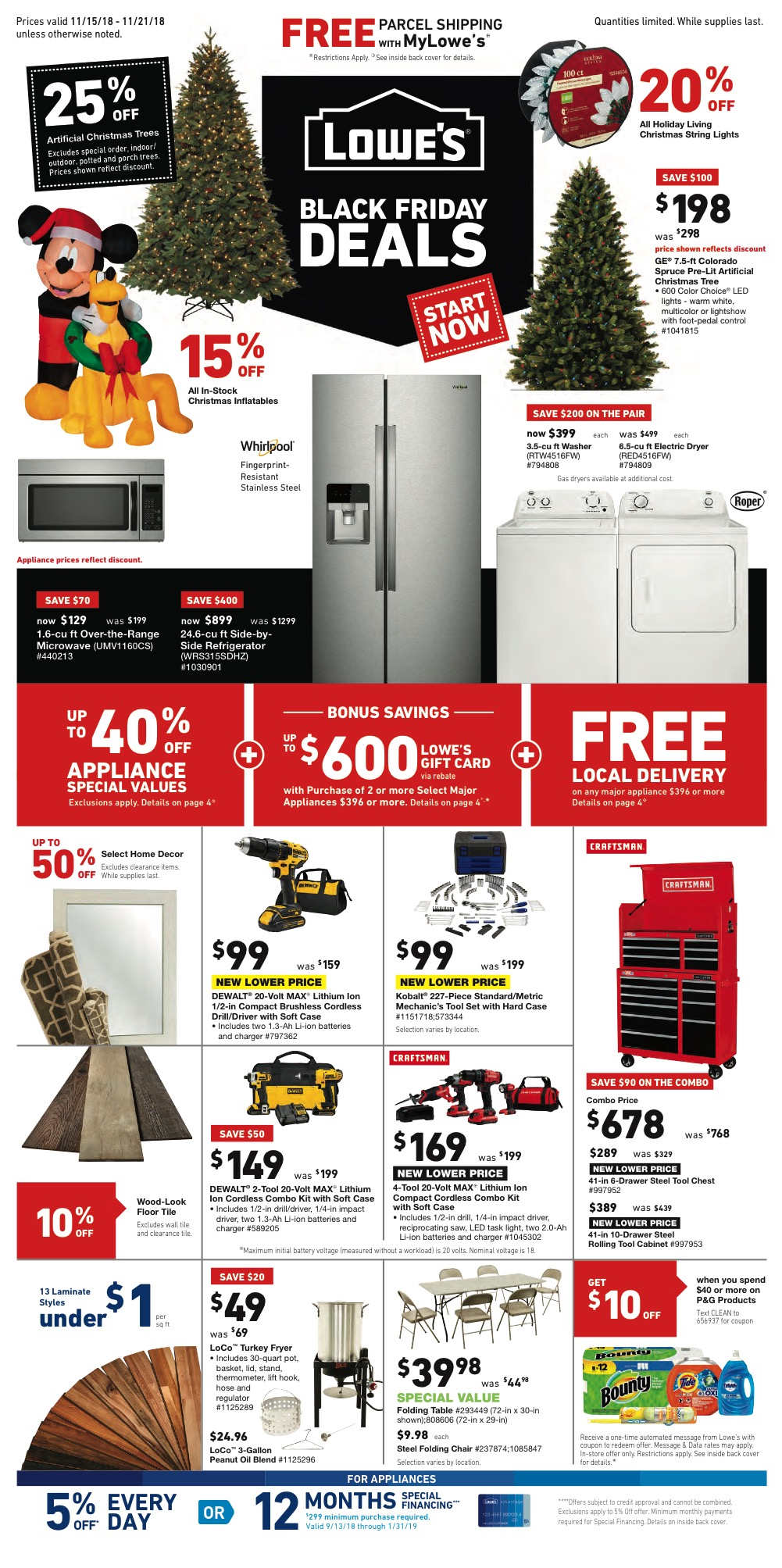 Lowes Pre-Black Friday Ad 2018 - Page 1