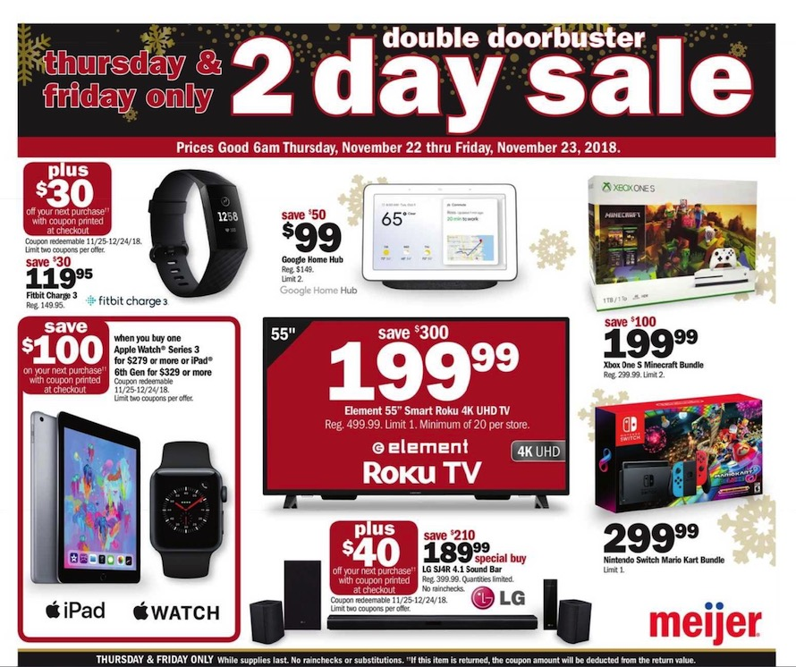 Meijer Black Friday Ad 2018 - Page  (1)