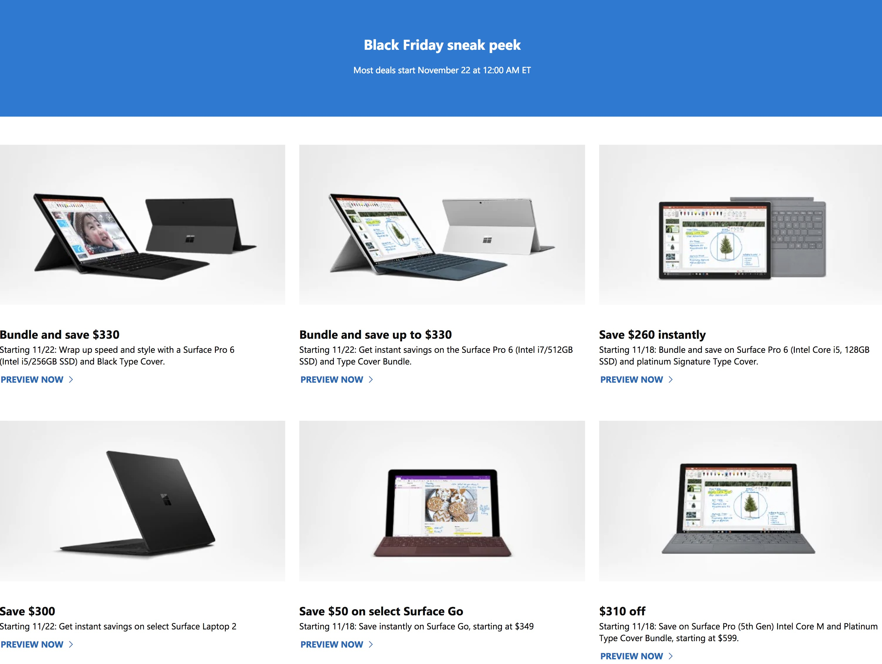 Microsoft Black Friday Ad 2018 - Page 1