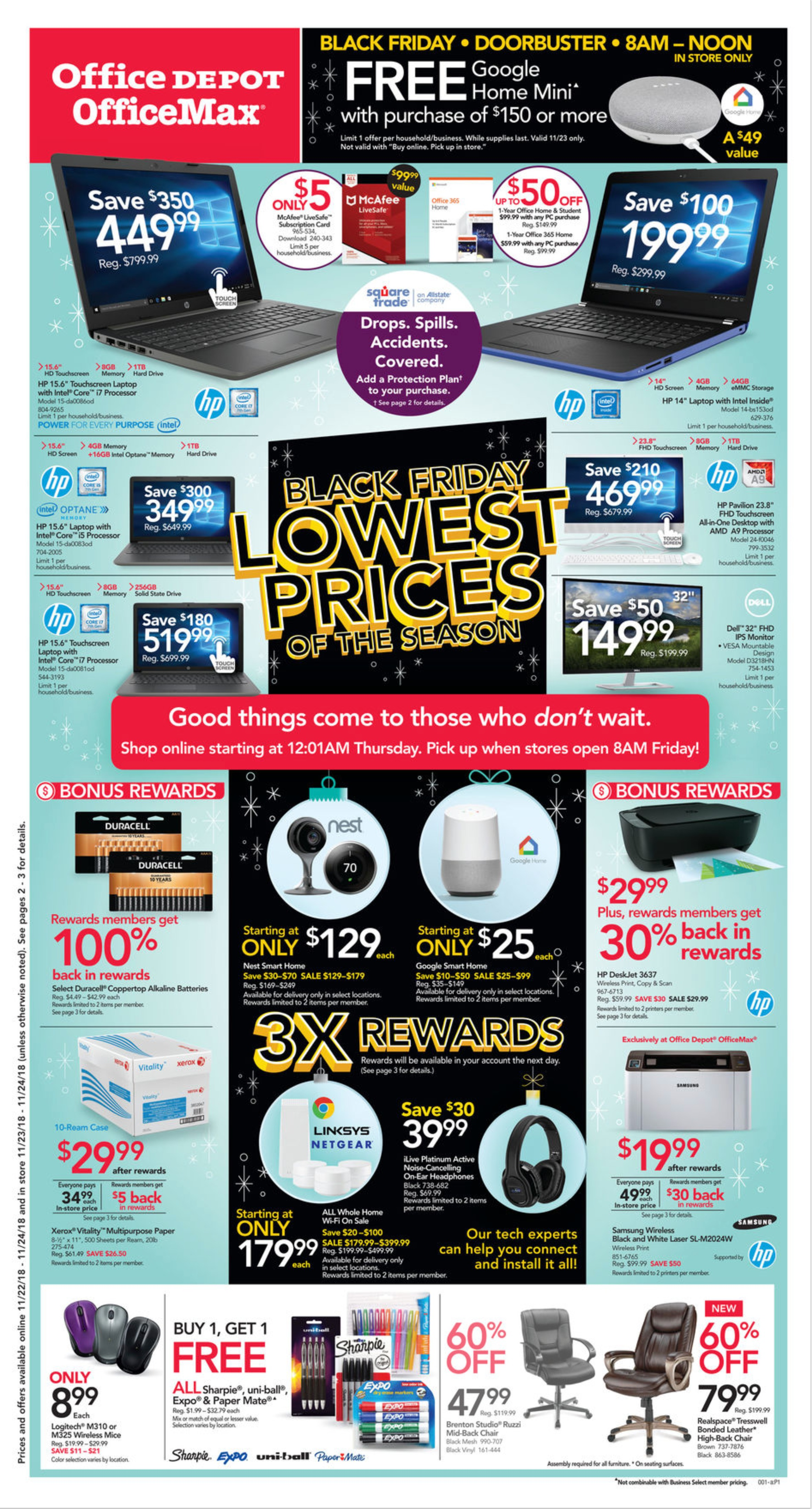 Office Depot OfficeMAX Black Friday Ad 2018 - Page  (1)