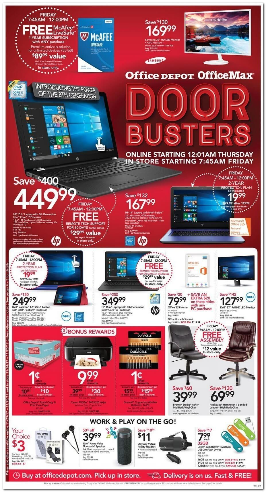 Office Depot - Office Max 2017 Black Friday Ad Page 1