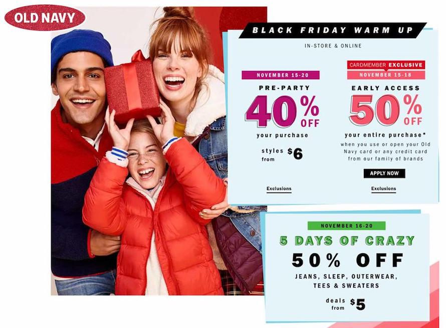 Old Navy Black Friday Ad 2018 - Page 1