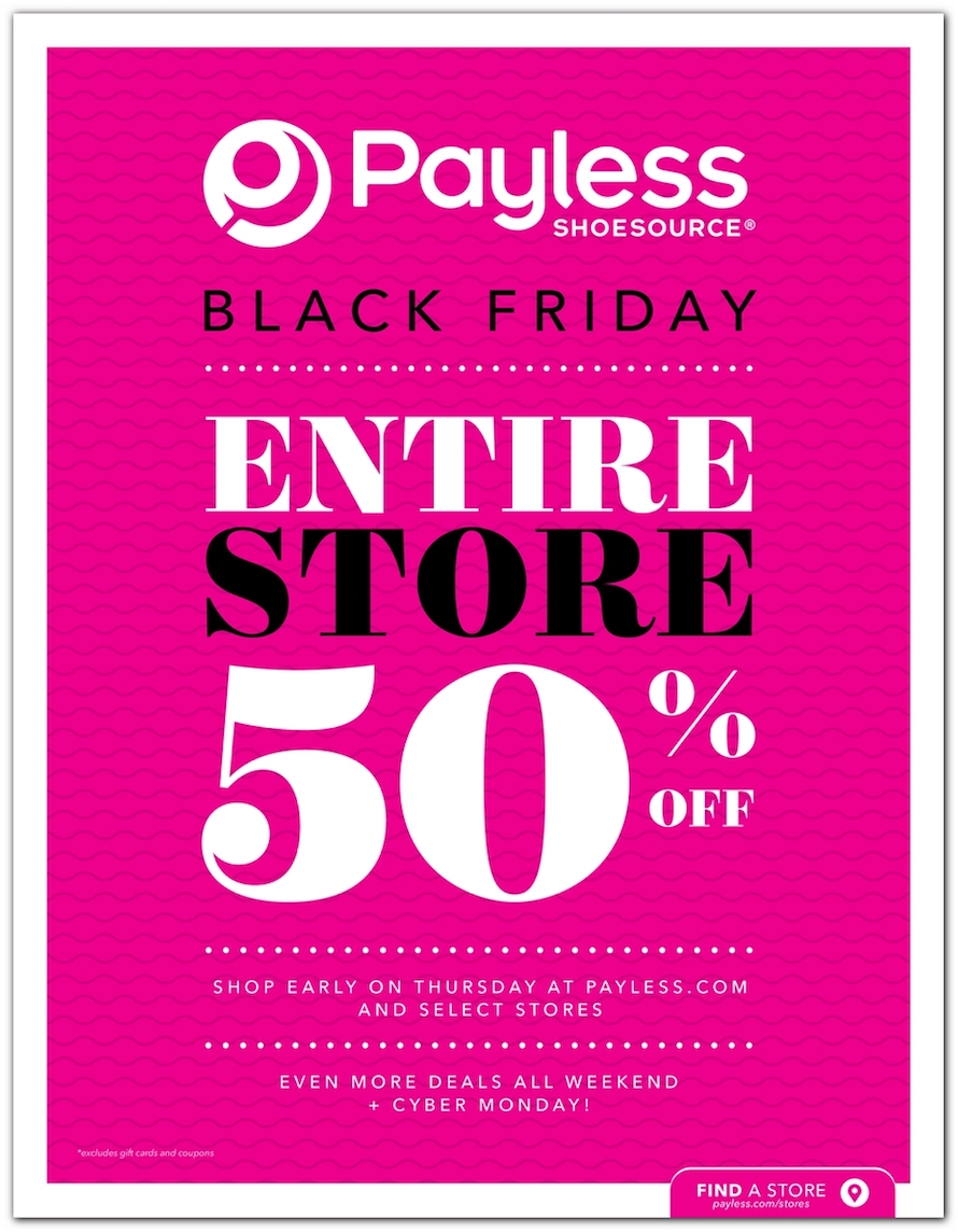 Payless Black Friday Ad 2018 - Page 1