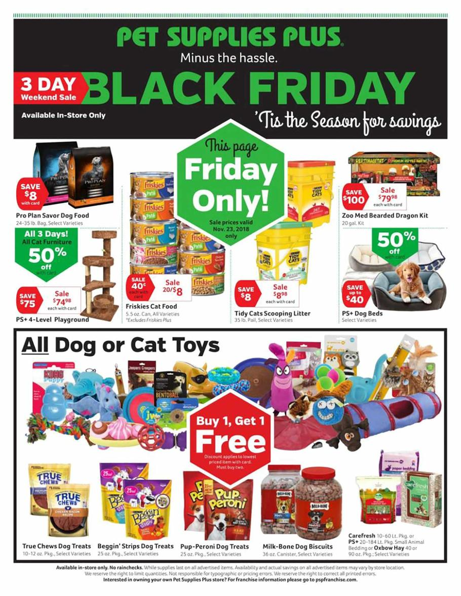 Pet Supplies Plus Black Friday Ad 2018 - Page 1