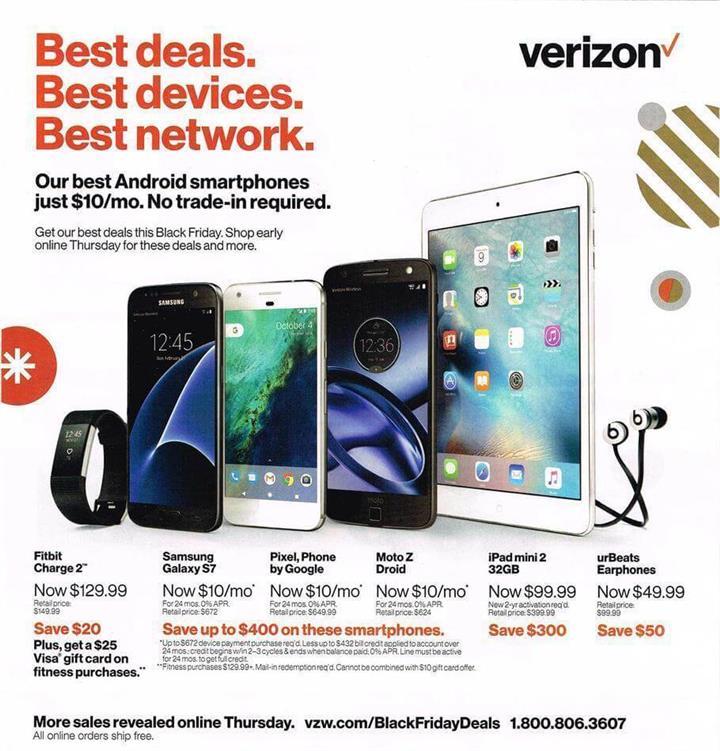 Verizon Black Friday Ad 2016 - Pg 1