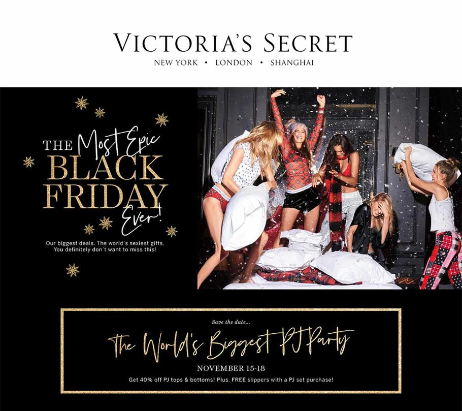 Victorias Secret Black Friday Ad 2018 - Page 1