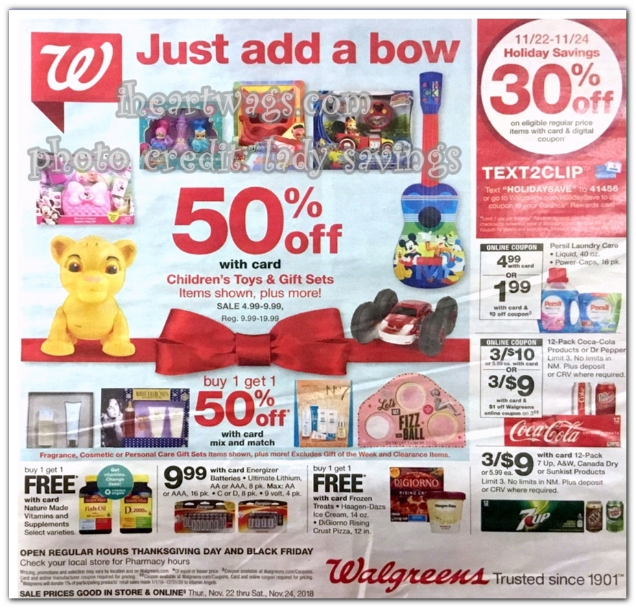 Walgreens Black Friday Ad 2018 - Page 1