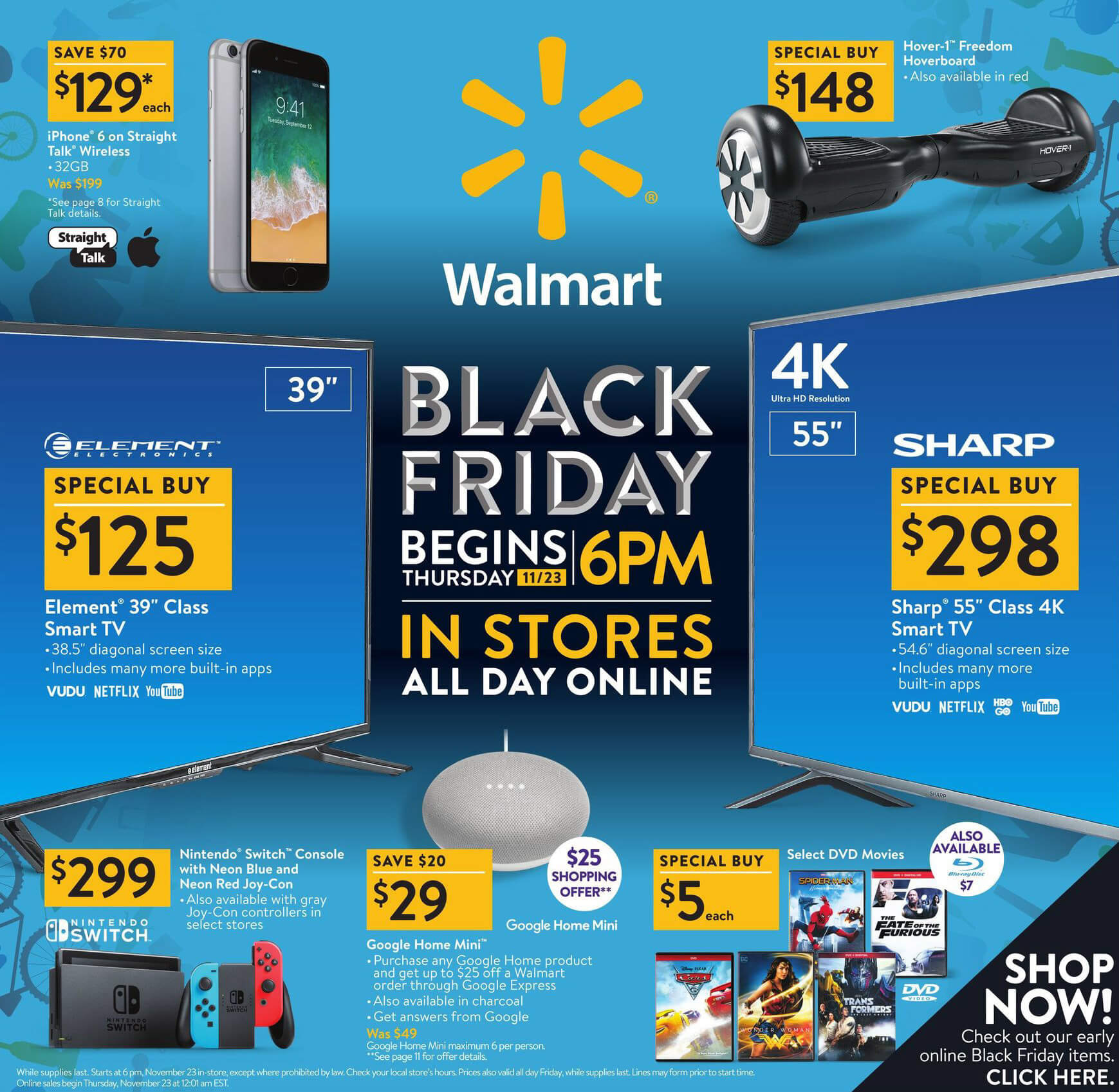 WalMart Black Friday 2017 Ad Page 1