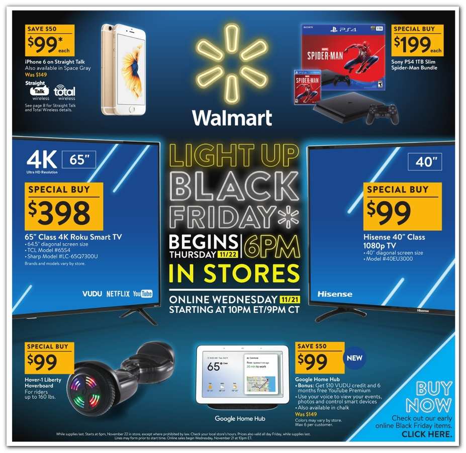 WalMart Black Friday Ad 2018 - Page 1
