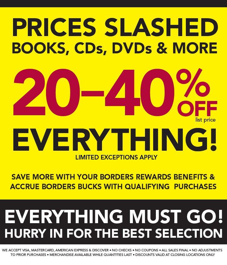 Borders Books Store Closing Sale Freebies2deals Store Closing Borders