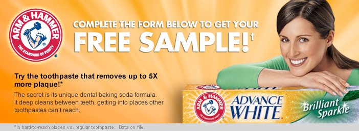 FREE Sample of Arm & Hammer Toothpaste - Freebies2Deals