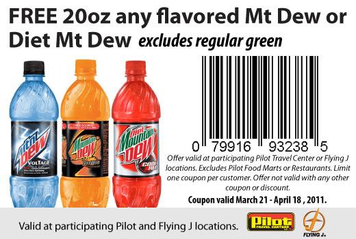 Free printable mt dew coupons