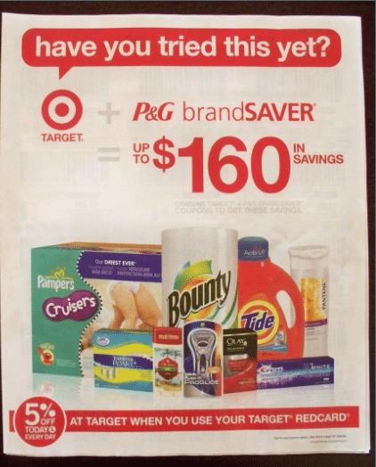 target coupon. receieved a Target Coupon