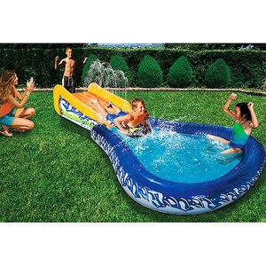 Banzai inflatable water slide only 25 with shipping from walmart freebies2deals for Swimming pools target australia