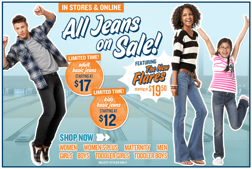 All Jeans on Sale at Old Navy! - Freebies2Deals