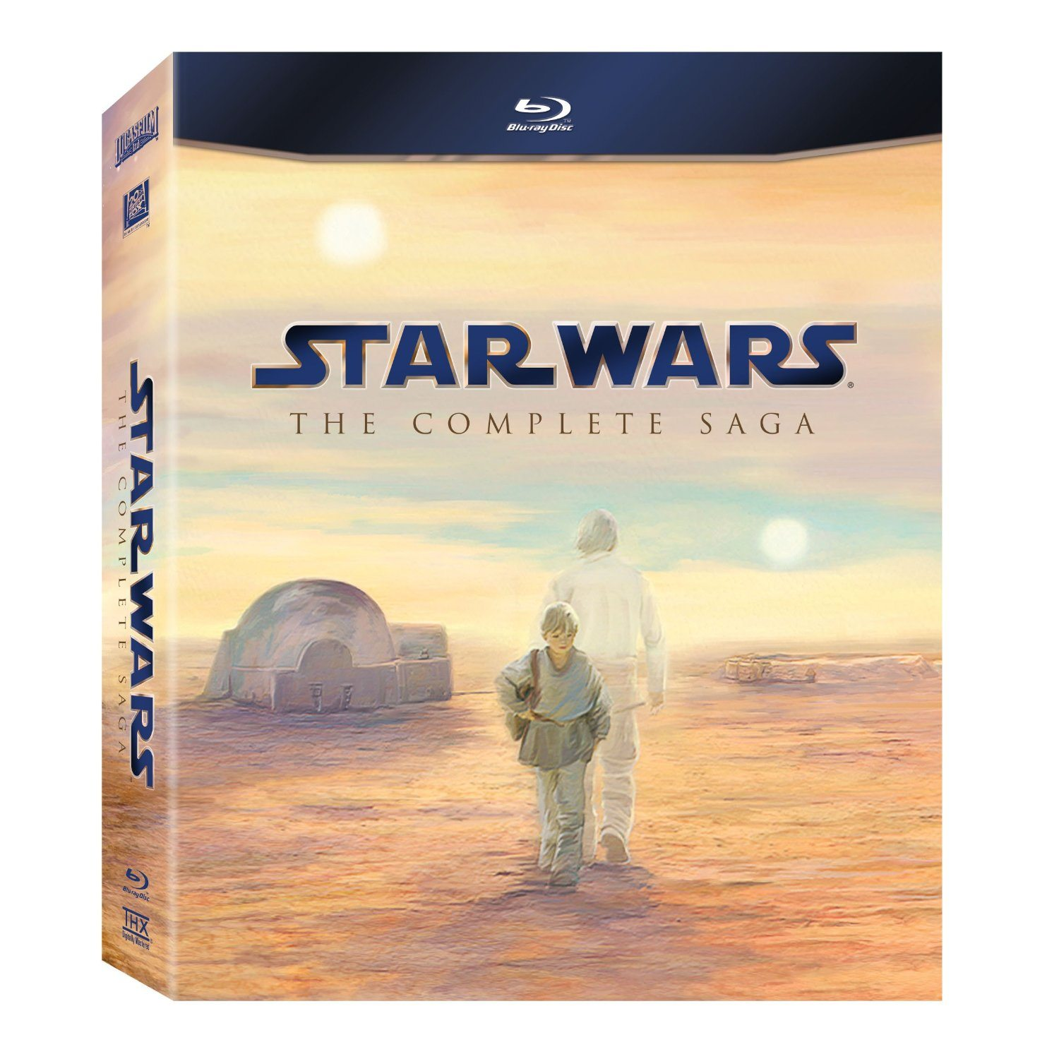 star wars the complete saga bluray set 6 movies only