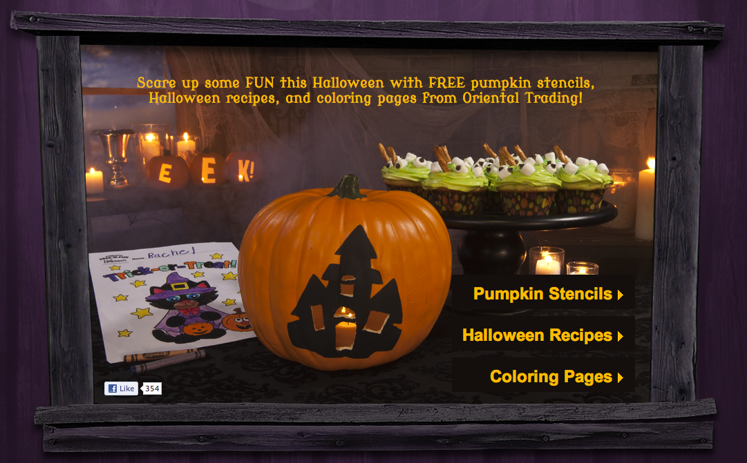 halloween food coloring pages free - photo#35