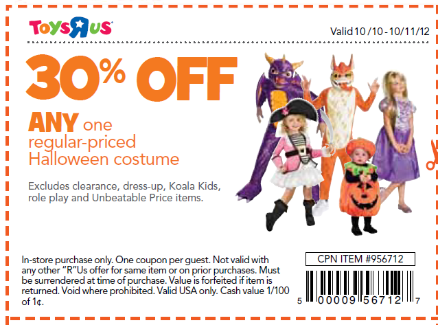 ... toys r us coupon connections; hot halloween costume and trick or treat bag deals freebies2deals ...  sc 1 st  The Halloween - aaasne & Halloween Costumes Toys R Us - The Halloween
