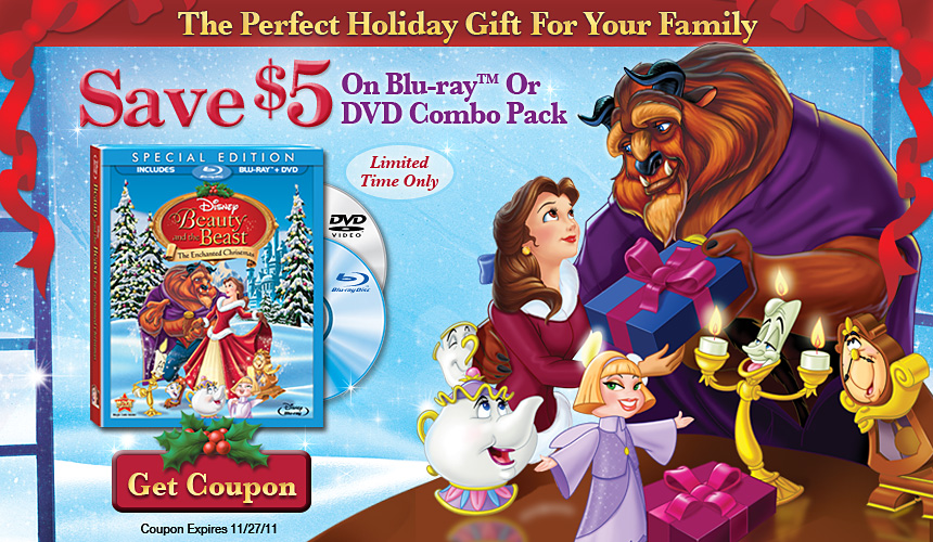$5 Off Beauty & the Beast: The Enchanted Christmas Special Edition ...