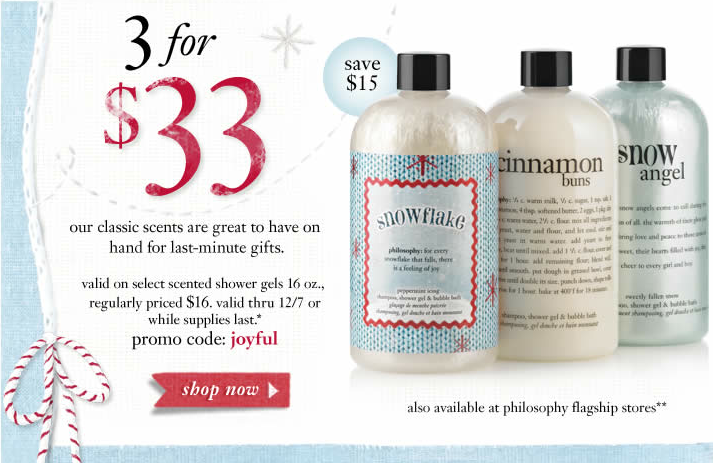 philosophy coupons december