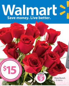 dozen roses from walmart 15 00 wow freebies2deals