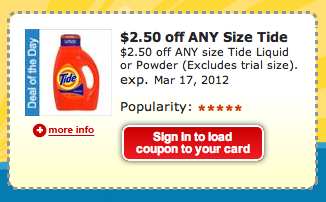 A limit of coupons can be loaded per household at any time. Digital reproductions of offers will not be accepted (such as using a mobile application to reproduce an image of an offer/coupon). How Kroger Works. The Kroger online shopping procedure is carried out in three simple and easy steps.