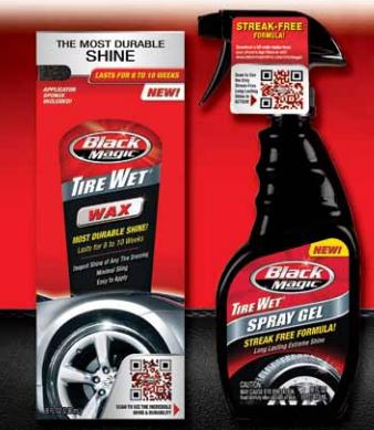 FREE Black Magic Tire Wet Spray Gel or Tire Wet Spray Wax - Freebies2Deals