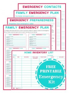 Free Family Emergency Printable Planning Kits