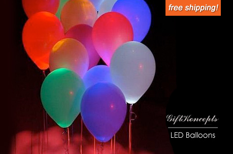 10 Multicolored Led Light Up Balloons Only 15 Plus Free Shipping