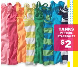86ef1607f57827 Old Navy   2 Tank Top Sale Starts Today! - Freebies2Deals