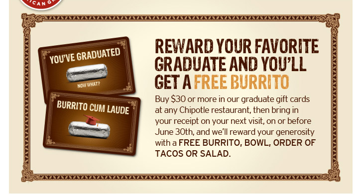 graphic regarding Chipotle Printable Coupons named Chipotle: Totally free Buritto, Tacos, Salad, Or Burrito Bowl With