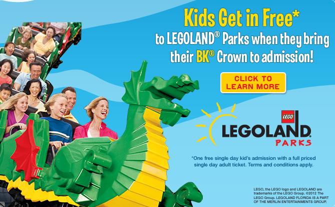 Legoland Kid Free Admission