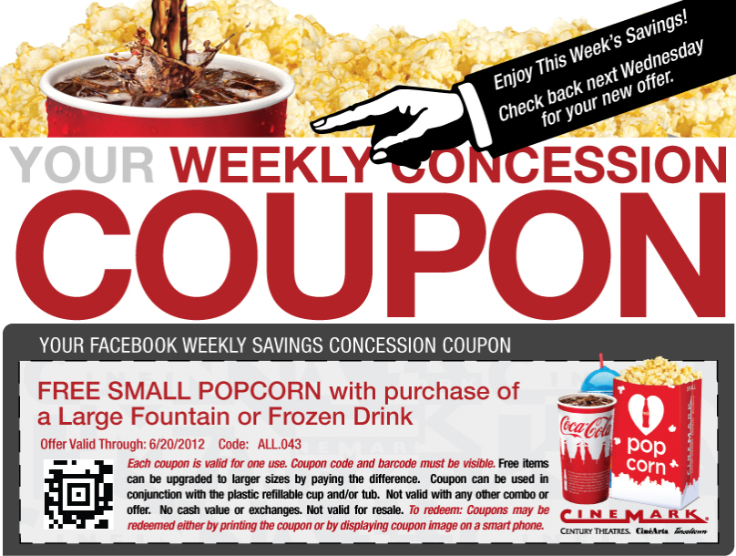 Discount movie coupons