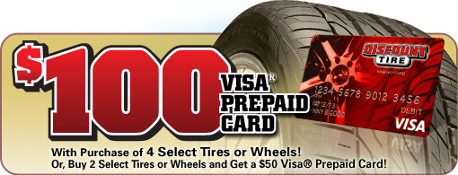 Discount Tire Labor Day Sale >> Discount Tire 100 Prepaid Visa Card With Purchase Of Any 4